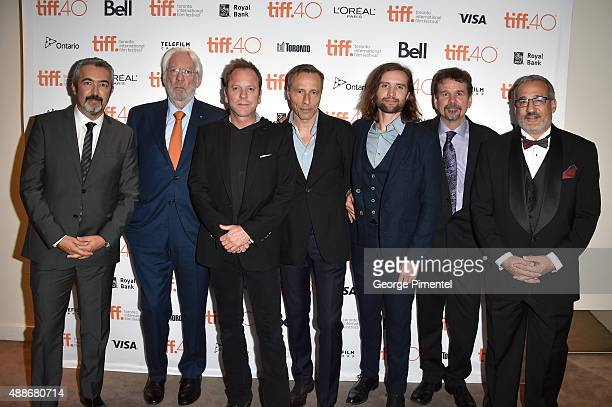 Director Jon Cassar actors Donald Sutherland Kiefer Sutherland Michael Wincott Aaron Poole producer Kevin DeWalt and guest attend the Forsaken...