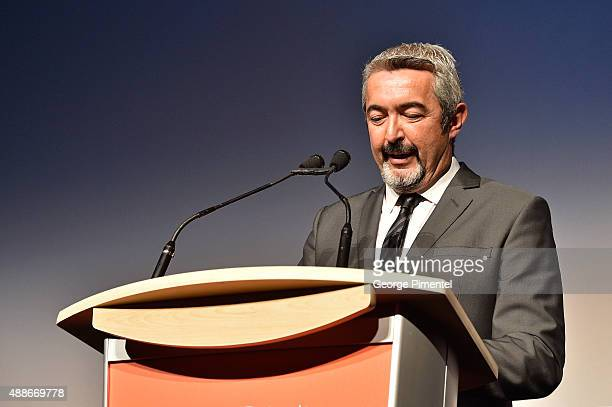 Director Jon Cassar speaks onstage at the Forsaken premiere during the 2015 Toronto International Film Festival at Roy Thomson Hall on September 16...