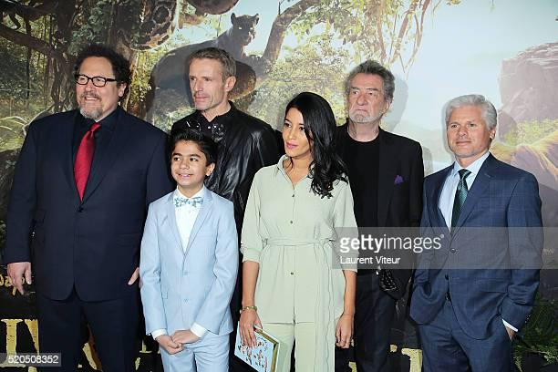 Director Jon Favreau Actors Neel Sethi Lambert Wilson Actress Leila Bekhti Singer Eddy Mitchell and Producer Brigham Taylor attend Le Livre De La...