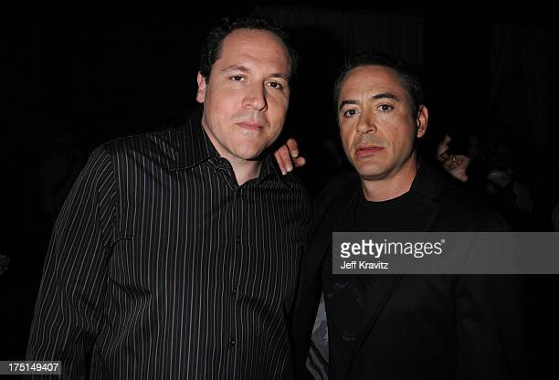 Director Jon Favreau and Actor Robert Downey Jr attend Spike TV's 2nd Annual Guys Choice Awards at Sony Studios on May 30 2008 in Culver City...