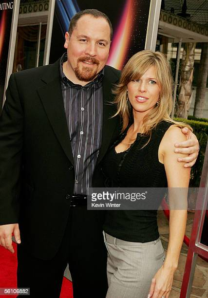Director Jon Favreau and his wife Joya pose at the premiere of Columbia Picture's Zathura A Space Adventure at the Village Theater on November 6 2005...