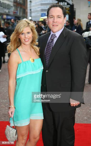 Director Jon Favreau and wife Joya Tillem attend the UK Charity Premiere of 'Iron Man' held at the Odeon Leicester Square on April 24 2008 in London...