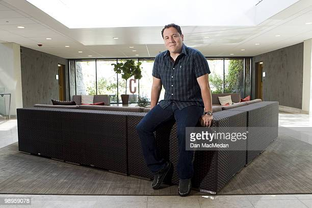 Director Jon Favreau poses for a portrait session inside his production offices on May 7 Santa Monica CA Published Image