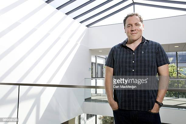 Director Jon Favreau poses for a portrait session inside his production offices on May 7 Santa Monica CA