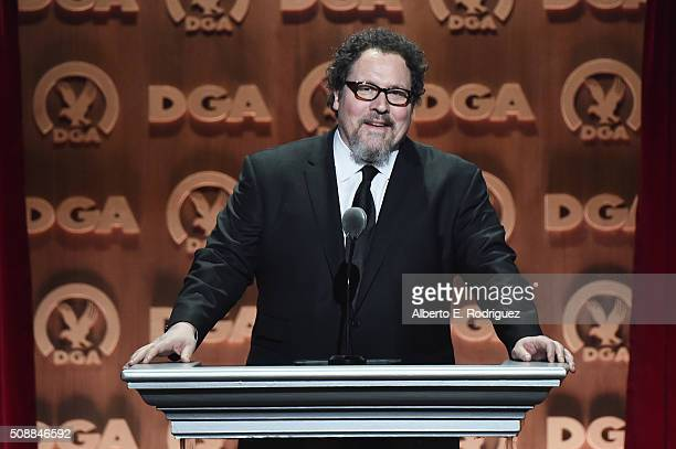 Director Jon Favreau speaks onstage at the 68th Annual Directors Guild Of America Awards at the Hyatt Regency Century Plaza on February 6 2016 in Los...