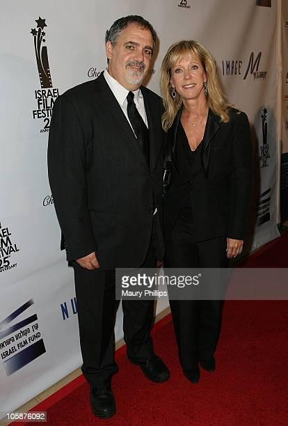 Director Jon Landau and wife Julie Landau arrive at The Israel Film Festival 25th Anniversary Gala Awards Dinner at The Beverly Hilton hotel on...