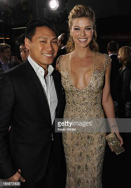 Director Jon M Chu and actress Adrianne Palicki attend the premiere of Paramount Pictures' 'GI JoeRetaliation' at TCL Chinese Theatre on March 28...