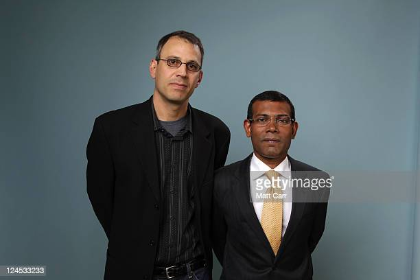 Director Jon Shenk and President of Maldives Mohamed Nasheed of The Island President poses for a portrait during the 2011 Toronto Film Festival at...