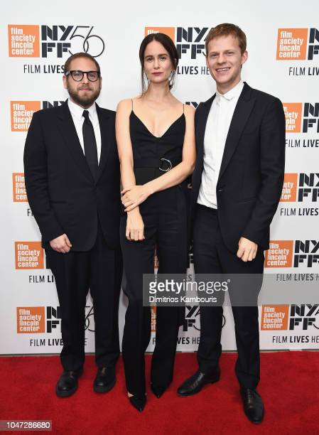 Director Jonah Hill actors Katherine Waterston and Lucas Hedges attend the Mid90s screening during the 56th New York Film Festival at Elinor Bunin...