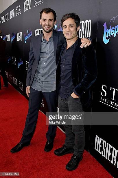 Director Jonas Cuaron and actor Gael Garcia Bernal attend the screening of STX Entertainment's Desierto at Regal LA Live Stadium 14 on October 11...