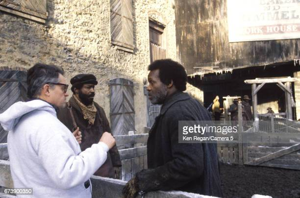 Director Jonathan Demme and actor Danny Glover are photographed on the set of 'Beloved' in the fall of 1997 in Fair Hill Maryland CREDIT MUST READ...
