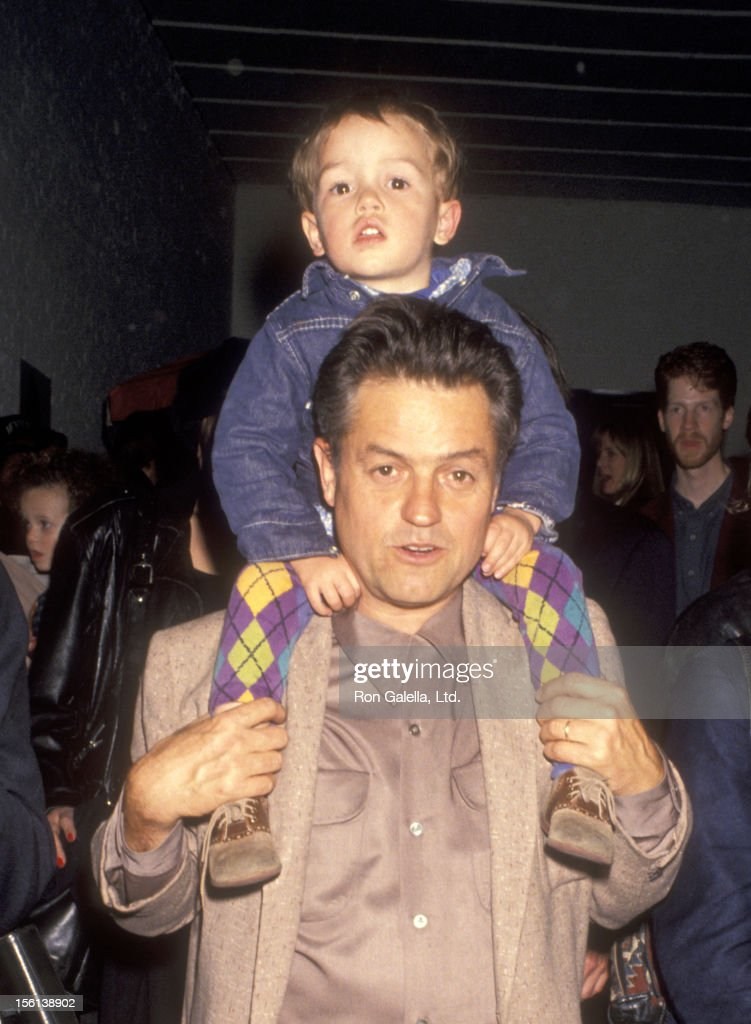 Director Jonathan Demme and son Brooklyn Demme attend the Batoto Yetu's Benefit Performance of 'Rites of Spring' on April 22, 1993 at Industria Superstudio in New York City.