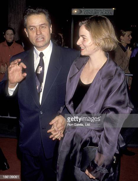 Director Jonathan Demme and wife Joanne Howard attend the 'Philadelphia' Century City Premiere on December 14 1993 at Cineplex Odeon Century Plaza...