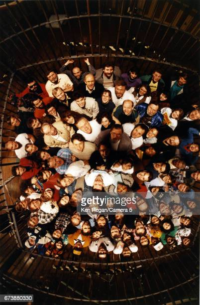 Director Jonathan Demme cast and crew are photographed on the set of 'The Silence of the Lambs' in 1989 around Pittsburgh Pennsylvania CREDIT MUST...