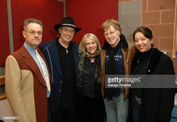 Director Jonathan Demme musician Neil Young wife Pegi Young Sundance Founder Robert Redford and Sibylle Szaggars