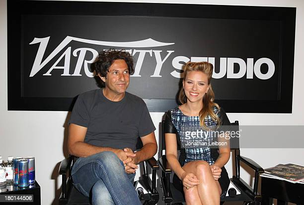 Director Jonathan Glazer and Actress Scarlett Johansson speak at the Variety Studio presented by Moroccanoil at Holt Renfrew during the 2013 Toronto...