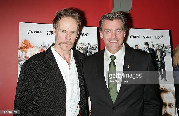 Director Jonathan Hensleigh and Actor Ray Stevenson attend the premiere of Kill the Irishman at Landmark's Sunshine Cinema on March 7 2011 in New...