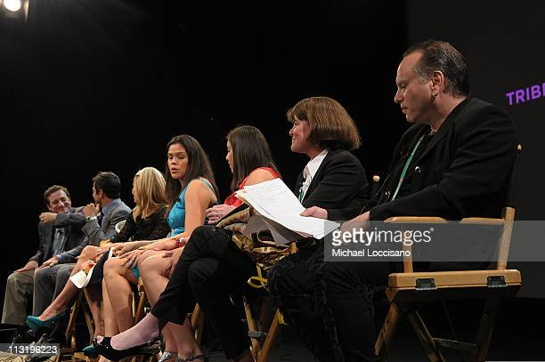 Director Jonathan Hock executive producers Mark Consuelos Kelly Ripa coach Cecilee Moses film subject Shoni Schimmel Group President for Discovery...