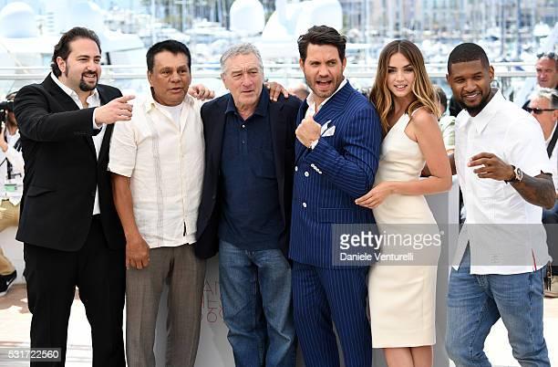 Director Jonathan Jakubowicz Roberto Duran Robert De Niro Edgar Ramirez Ana de Armas and Usher attend the 'Hands Of Stone' photocall during the 69th...