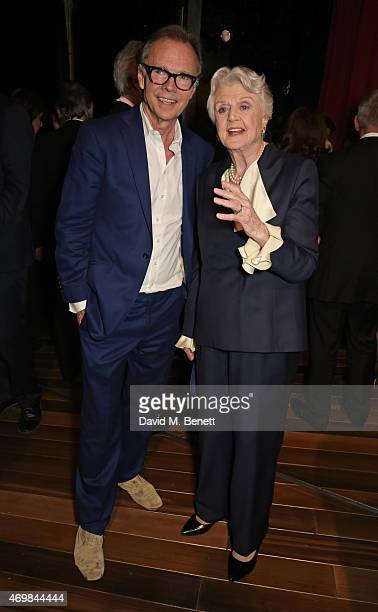 Director Jonathan Kent and Dame Angela Lansbury attend a post show drinks reception on stage following the press night performance of Gypsy at The...