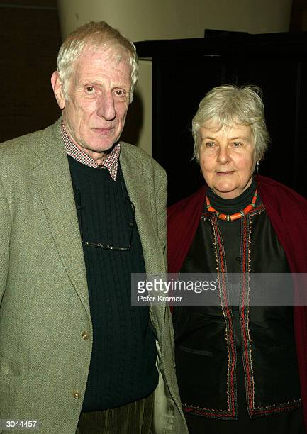 Director Jonathan Miller and wife attend the after party for Lincoln Centers opening night of King Lear on March 4 2004 in New York City