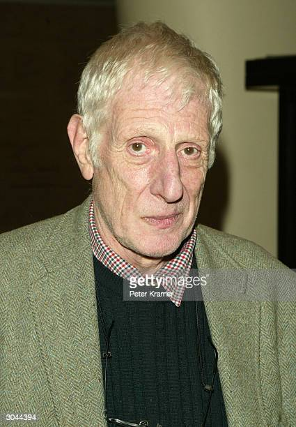 Director Jonathan Miller attends the after party for Lincoln Centers opening night of King Lear March 4 2004 in New York City