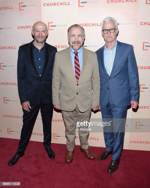 Director Jonathan Teplitzky actor Brian Cox and actor John Slattery attend the Churchill New York Premiere at the Whitby Hotel on May 22 2017 in New...