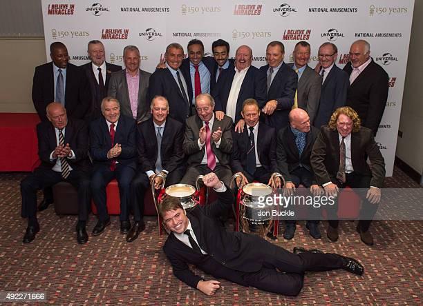 Director Jonny Owen poses with Former Nottingham Forest players Trevor Francis Garry Birtles Viv Anderson Larry Lloyd John Robertson Kenny Burns Ian...