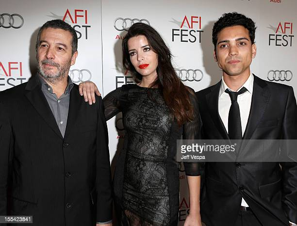 Director João Canijo actress Anabela Moreira and actor Rafael Morais arrive at the 'Holy Motors' special screening during the 2012 AFI Fest at...