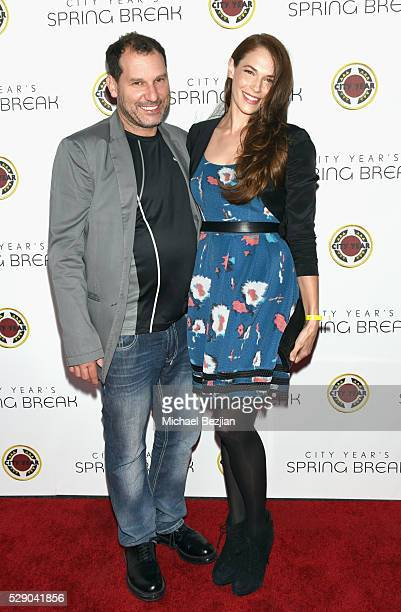 Director Jordan Alan and actress Amanda Righetti attends City Year Los Angeles Spring Break Event at Sony Studios on May 7 2016 in Los Angeles...