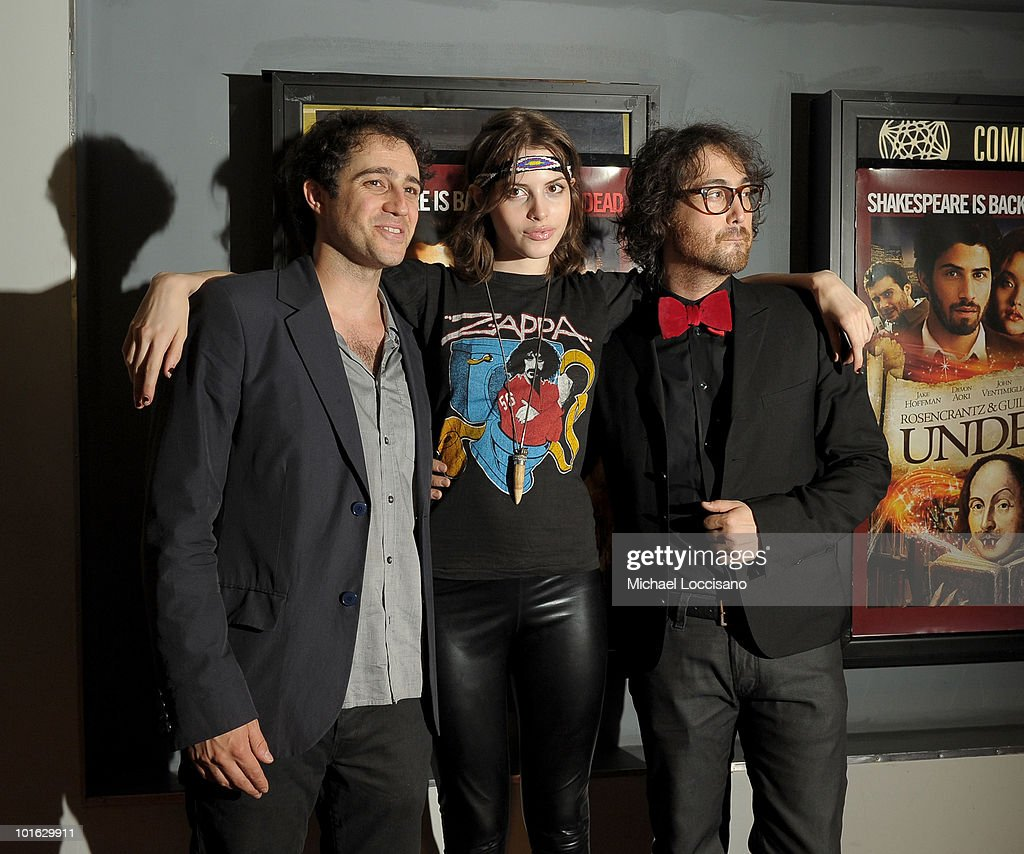 Director Jordan Galland, Charlotte Kemp Muhl and musician Sean Lennon attend the premiere of 'Rosencrantz and Guildenstern Are Undead' at Village East Cinema on June 4, 2010 in New York City.