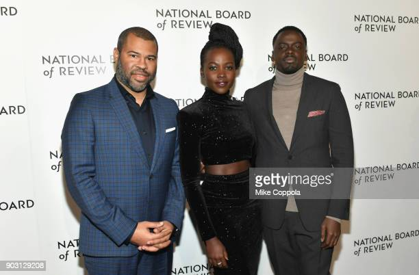 Director Jordan Peele actors Lupita Nyong'o and Daniel Kaluuya attend the 2018 The National Board Of Review Annual Awards Gala at Cipriani 42nd...