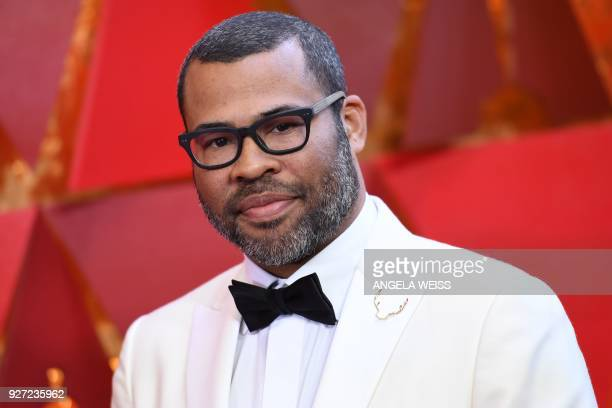 US director Jordan Peele arrives for the 90th Annual Academy Awards on March 4 in Hollywood California / AFP PHOTO / ANGELA WEISS