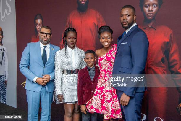 Director Jordan Peele Lupita Nyong'o Evan Alex Shahadi Wright Joseph and Winston Duke attend the 'Us' New York Premiere at Museum of Modern Art on...