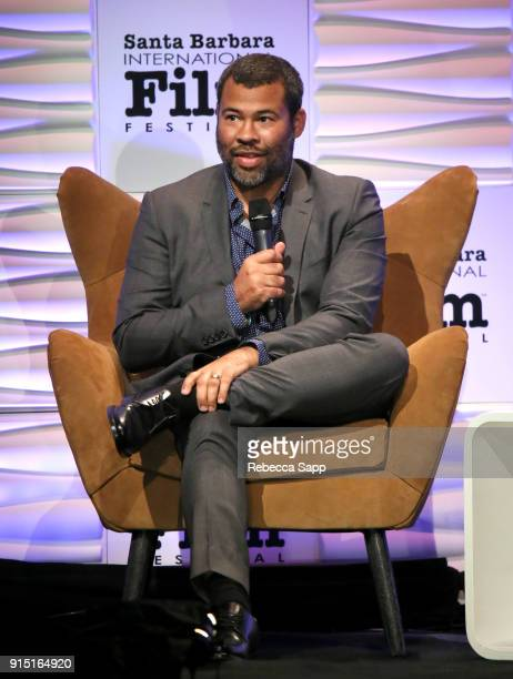 Director Jordan Peele speaks onstage at the Outstanding Directors Award Sponsored by The Hollywood Reporter during The 33rd Santa Barbara...