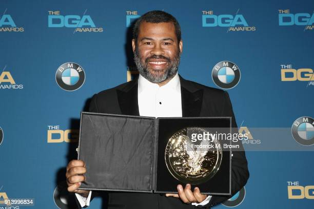 Director Jordan Peele winner of the FirstTime Feature Award for 'Get Out' poses in the press room during the 70th Annual Directors Guild Of America...