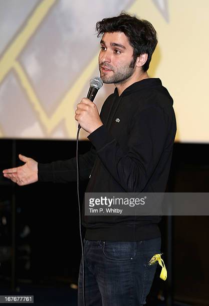 Director Jordan Vogt Roberts speaks at The Kings of Summer screening during Sundance London Film And Music Festival 2013 at Sky Superscreen O2 on...