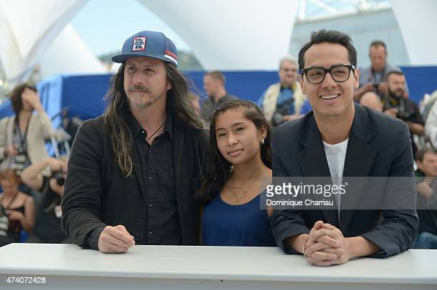 Director Jose Luis Rugeles actor Carlos Clavijo and actress Karen Torres attend a photocall for 'Alias Maria' during the 68th annual Cannes Film...