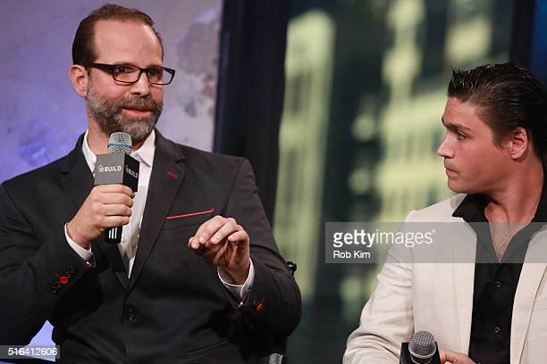 Director Joseph Castelo and Logan Huffman attend AOL Build Speaker Series to discuss The Preppie Connection at AOL Studios In New York on March 18...