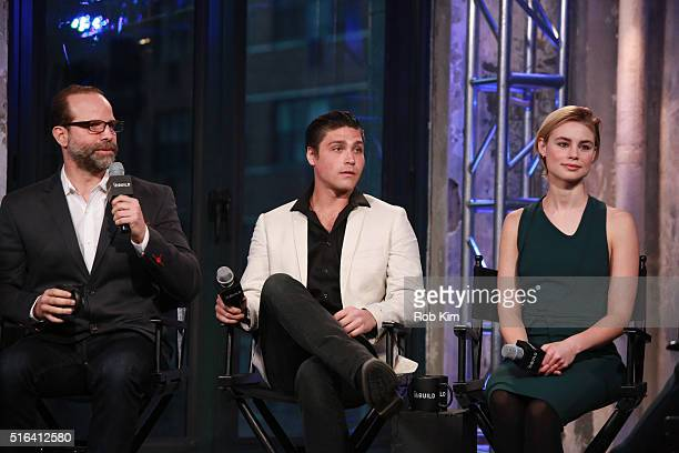 Director Joseph Castelo Logan Huffman and Lucy Fry attend AOL Build Speaker Series to discuss The Preppie Connection at AOL Studios In New York on...