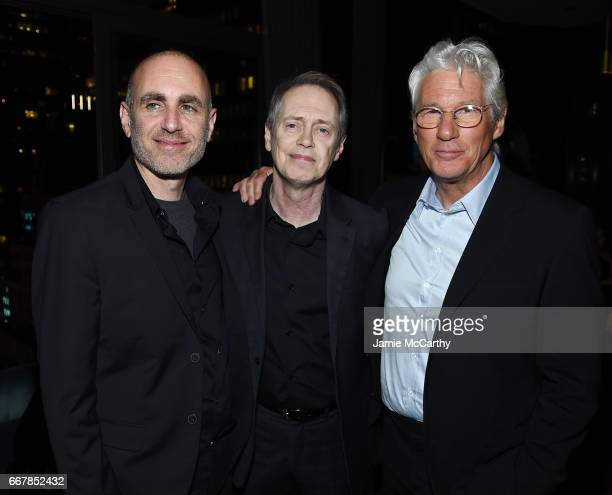 Director Joseph Cedar and actors Steve Buscemi and Richard Gere attend the after party for the screening of Sony Pictures Classics' Norman hosted by...
