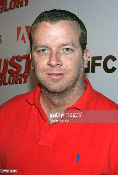 Director Joseph 'McG' Nichol sits on a motorbike at the premiere of IFC Films Dust to Glory held at the Archlight Cinemas on March 30 2005 in...