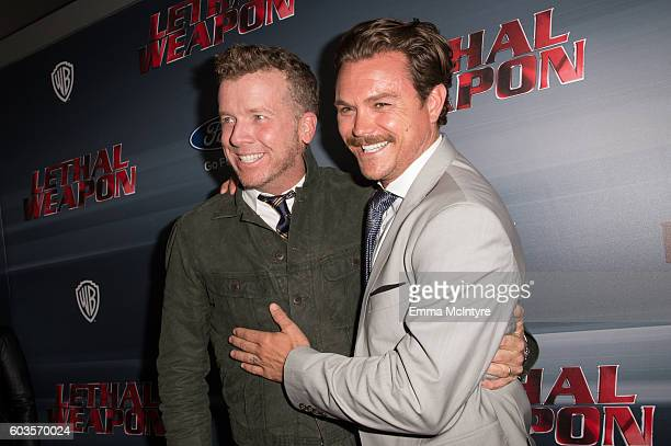 Director Joseph McGinty Nichol aka 'McG' and actor Clayne Crawford attend the premiere Of Fox Network's 'Lethal Weapon' at NeueHouse Hollywood on...