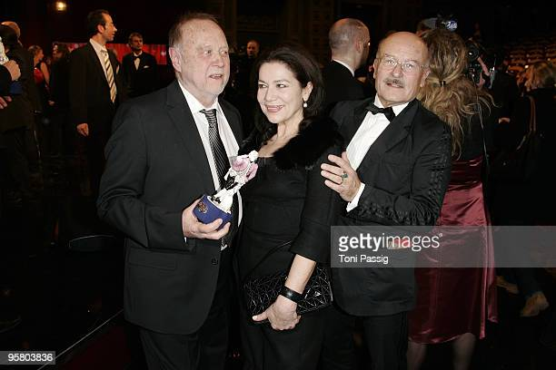 Director Joseph Vilsmaier and actress Hannelore Elsner and director Volker Schloendorff attend the afterparty of the Bavarian Movie Award at...
