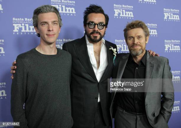 Director Josh Boone SBIFF executive director Roger Durling and Willem Dafoe at the Cinema Vanguard Award Honoring Willem Dafoe during The 33rd Santa...