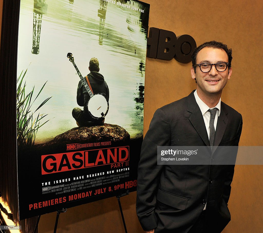 Director Josh Fox attends The HBO Special Screening of 'Gasland Part II' at HBO Theater on June 25, 2013 in New York City.