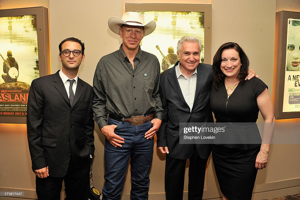 Director Josh Fox, film subject John Fenton, former New York Congressman Maurice Hinchey, and producer Trish Adlesic attend The HBO Special Screening Of 'Gasland Part II' at HBO Theater on June 25, 2013 in New York City.