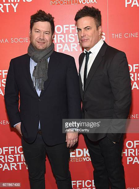 Director Josh Gordon and Will Speck attend the Paramount Pictures with The Cinema Society Svedka host a screening of 'Office Christmas Party' at...