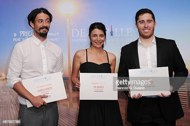 Director Josh Mond with the Revelation Prize for the movie James White writer Bahareh Azimi representing director Ramin Bahrani with the Grand Prize...