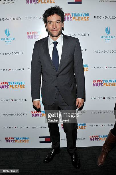 Director Josh Radnor attends the Cinema Society Tommy Hilfiger screening of happythankyoumoreplease at Landmark Sunshine Cinema on March 2 2011 in...